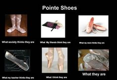 pointe shoes although I know my pointe shoes look the way they actually do