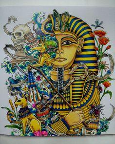 A Pharaoh's statue with dark magic. #imagimorphia #kerbyrosanes…