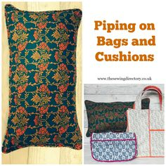 Piping on Bags and Cushions written by Kerrie Padmore. Sewing Tutorials, Sewing Projects, Sewing Patterns, Sewing Piping, Liberty Fabric, Sewing Class, Janome, Learn To Sew, Sewing Techniques