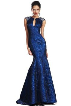 *Sleeveless *Bright beads on shoulders *Fitted bodice *Mermaid style *Zip on the back *Built with bra *Full length with a small train(about 155cm from shoulder ...