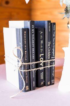 Rustic wedding love book titles