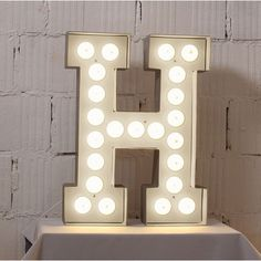Vegaz Letter Light Dimensions: Approx to W x D x H Break Room Console Table H + L Large Metal Letters, Alphabet Lighting, Beach Signs Wooden, Customised Gifts, Personalised Gifts, Hollywood Lights, Wooden Names, Light Letters, Salon Design