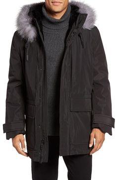 ANDREW MARC Everest Genuine Fur Trim Parka. #andrewmarc #cloth #