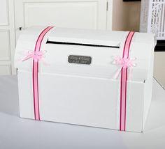 Huwelijk - Enveloppendoos Gepersonaliseerd roze  fuchsia accenten - 9-1421 R