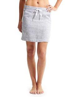 Stripe Linen Skirt - As the weather gets warmer e2c27bcfa716