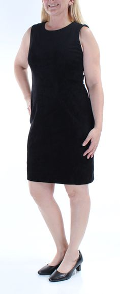 86b046736f Calvin Klein 159 Womens New 4736 Black Sleeveless Dress 12 Petites B B    Check out this
