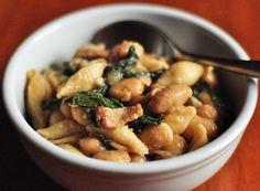 Cozy Winter Recipe: One-Pot Pasta e Fagioli - Substitute olive oil for bacon to make vegan