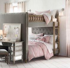 Chesterfield Velvet Full-Over-Full Bunk Bed