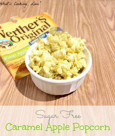 What's Cooking, Love?: Sugar Free Caramel Apple Popcorn and Werther's Original Sugar Free Candy sounds yummy! Sugar Free Snacks, Sugar Free Sweets, Sugar Free Candy, Sugar Free Recipes, Low Carb Recipes, Diabetic Recipes, Werther's Caramel, Caramel Apples, Popcorn Recipes
