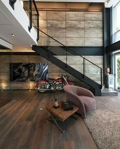 Get Inspired, visit: www.myhouseidea.com #myhouseidea There's a motorcycle in the house!