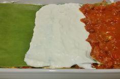 Lasagne verdi con burrata e strolghino