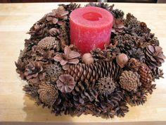 Beautiful pine cone wreath