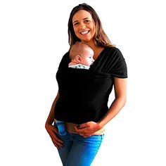 Baby More Co. Baby Wrap Carrier . Adjustable to All Sizes . Safe & Comfortable - Perfect Baby Shower Gift - From Newborns Up To Toddlers Under 32 pounds . * 100% MONEY BACK GUARANTEE * (Black) Baby More Co. http://www.amazon.com/dp/B00PJHJ0EQ/ref=cm_sw_r_pi_dp_9m6Zub1Z3SM1W