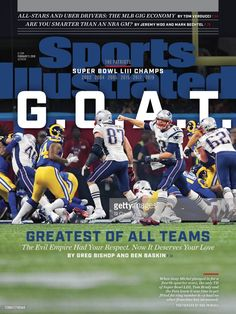 New England Patriots Super Bowl LIII Champions SPORTS ILLUSTRATED cover with blue/red double matting. This is an photo with double matting. This is just the cover and not the entire magazine. Patriots Football, College Football, Football Players, Patriots Fans, New England Patriots, New England Football, Si Cover, Sports Illustrated Covers, T 62