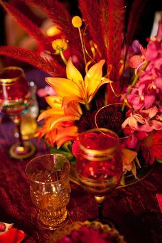 Moroccan style shoot, centerpiece close up