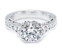 Tacori Engagement Ring, Tacori Crescent Collection