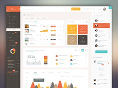 15 Innovative Dashboard Concepts - UltraLinx could we use till group colours for graphs? Dashboard Ui, Dashboard Design, Project Dashboard, Web Design Mobile, Web Mobile, Web Ui Design, Design Design, Site Design, Design Thinking