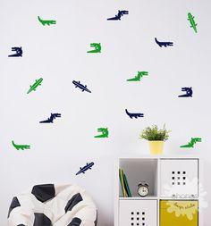Alligator Wall Decal / 24 Alligators wall by OhongsDesignStudio