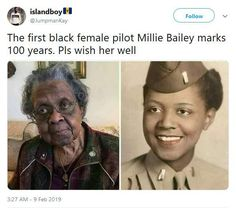 Millie Bailey First African American pilot