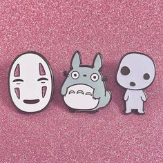 #Repost @candyxcorpse The three pins that started it all Running low on all of my Ghibli pins check out the glow Kodama and glitter No-Face variants! candycorpse.net (Posted by https://bbllowwnn.com/) Tap the photo for purchase info. Follow @bbllowwnn on Instagram for great pins patches and more!