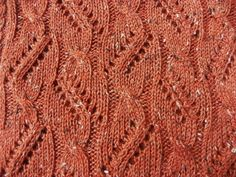 Hand Made Cable and Lace Scarf knit in a Deep Orange Wool, Alpaca yarn. by suelillycreations on Etsy