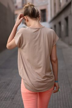 nude + neon..i actually like this! With some coral or teal skinny jeans