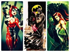 Harley, Catwoman & Poison Ivy