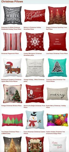 Christmas Pillows for a festive holiday decor.