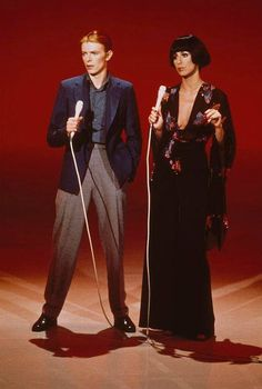 David Bowie & Cher, 1970s.
