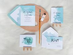 Watercolour Invitation Suite | Full Suite Photo