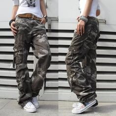 Women's Winter Thick Pants Womens Army Fatigue Pants Camouflage Cargo Pants Hip Hop Harem Baggy Pants Multi Pocket Trousers 18