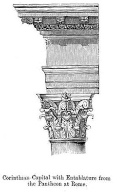The Corinthian order is the latest of the three principal classical orders of ancient Greek and Roman architecture.