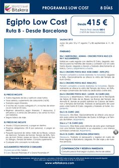 ¡Precio anticrisis! EGIPTO Low cost - Ruta B - Salida BCN: 8 días, desde 415 € + tasas - http://zocotours.com/precio-anticrisis-egipto-low-cost-ruta-b-salida-bcn-8-dias-desde-415-e-tasas/