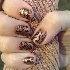 """""""I just got my lost ruins jams today, and I can't wait to out them on! These are lost ruins layered over nail lacquer copper penny! #jamberry…"""""""