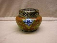 Old Dutch Pottery :: Gouda rosebowl marked Zuid Holland 1920