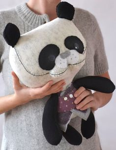Panda by MarieChou on Etsy. $130.00, via Etsy.