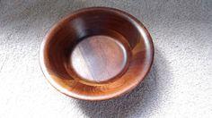 Vintage Wood Bowl Salad bowl Walnut butcher block by dannysdepot