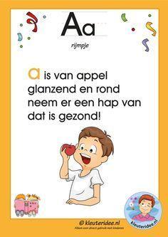 Pakket over de letter a blad 3, letters aanbieden aan kleuters, kleuteridee.nl, free printable.