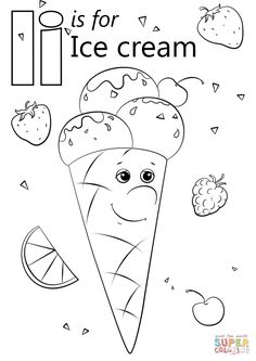 Creative Photo of Ice Cream Coloring Pages Ice Cream Coloring Pages Letter I Is For Ice Cream Coloring Page Free Printable Coloring Pages Insect Coloring Pages, Letter A Coloring Pages, Preschool Coloring Pages, Truck Coloring Pages, Free Printable Coloring Pages, Free Coloring Pages, Ice Cream Coloring Pages, Coloring Sheets For Kids, Colouring Sheets