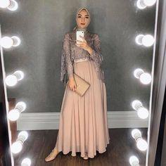 Wearing this beautiful dress from miaaassegaf Hijab by elzattahijab Hijab Prom Dress, Hijab Gown, Kebaya Hijab, Hijab Evening Dress, Hijab Style Dress, Kebaya Dress, Dress Pesta, Dress Outfits, Bridesmaid Dress