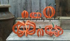 Horseshoe Pumpkins https://www.facebook.com/horseshoedesignssb/