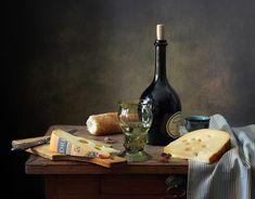 С сыром и белым вином. Автор: Елена Татульян