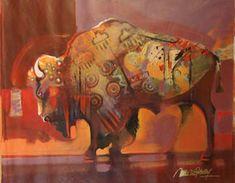 """""""Buffalo Robe"""" by Malcolm Farley, Acrylic"""