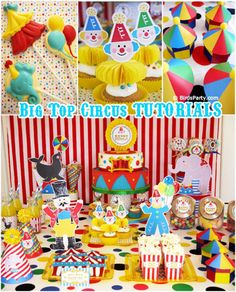 Big Top Circus carnival birthday party ideas for boys or girls! Lots of creative DIY decorations, party printables, food, fun and games! Circus Carnival Party, Circus Theme Party, Carnival Birthday Parties, Circus Birthday, Birthday Party Themes, Carnival Games, Circus Food, Carnival Decorations, Easy Decorations