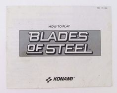 awesome Blades of Steel NES Manual Only Nintendo NO Game   Check more at http://harmonisproduction.com/blades-of-steel-nes-manual-only-nintendo-no-game/