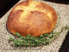 Parmesan Herb Bread | This recipe also contains orange juice, honey, and yogurt.