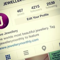 #lovejewellery #jewellerymonthly Our Instagram account is taking off.