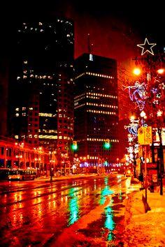 Portage and Main at Christmas - Winnipeg - Image by Carla Dyck