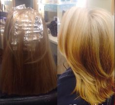 Before and after hair makeover by haley hill ❤️