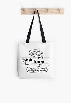 Musical Compliments Tote Bag Love funny quotes and inspirational quotes about wine & champagne? ArtyQuote Canvas Art & Apparel was made for you!Check out our canvas art, prints & apparel in store, click that link ! Jack Sparrow, Game Quotes, Funny Quotes, Teacher Signs, Cheap Hobbies, Music Festival Outfits, The Calling, Love Games, Music Notes